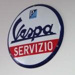 Werkstatt Blechschild Vespa Servizio