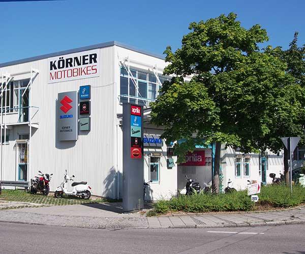 Firmengebäude Körner Motobikes in Ottobrunn