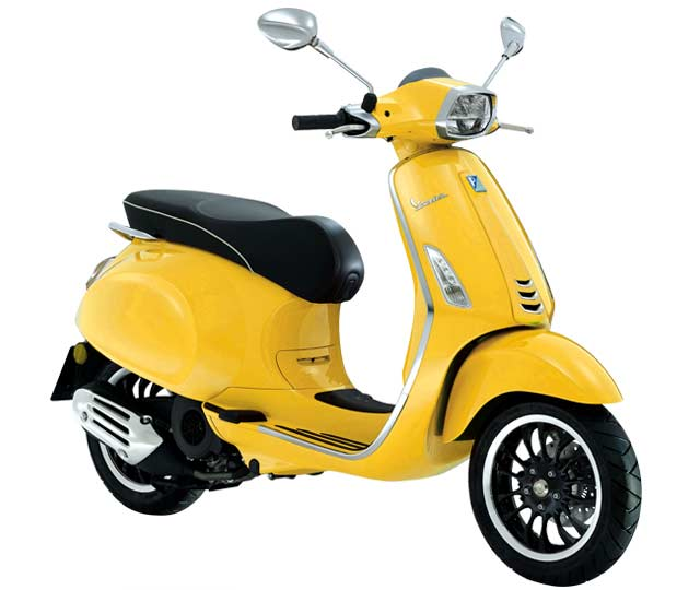 Vespa Sprint 50, gelb estate